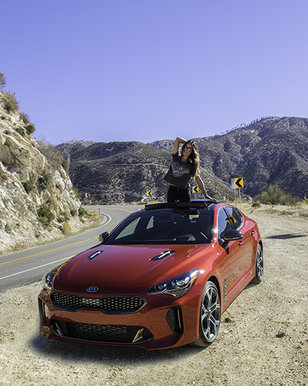 Kia Stinger in Los Angeles National Forest