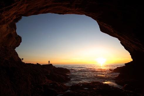 1000 Steps cave in Laguna Beach