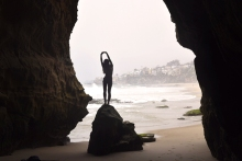 1000 Steps rock low tide Laguna Beach