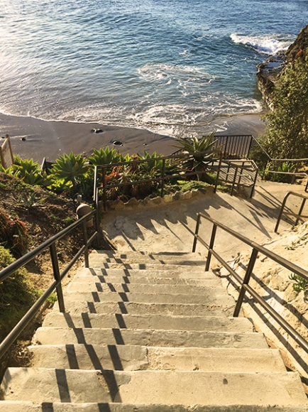 Divers Cove steps Laguna Beach