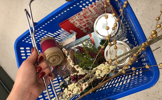 Shopping Basket Holiday Decorations