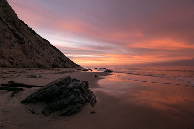 Sunrise beauty in Newport Beach Crystal Cove Featured