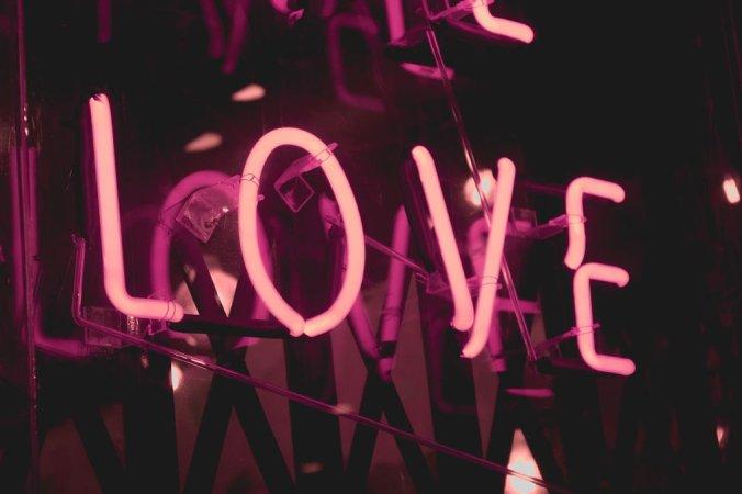 LOVE digital sign